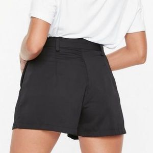Missguided Shorts - Black Tie Waist Shorts